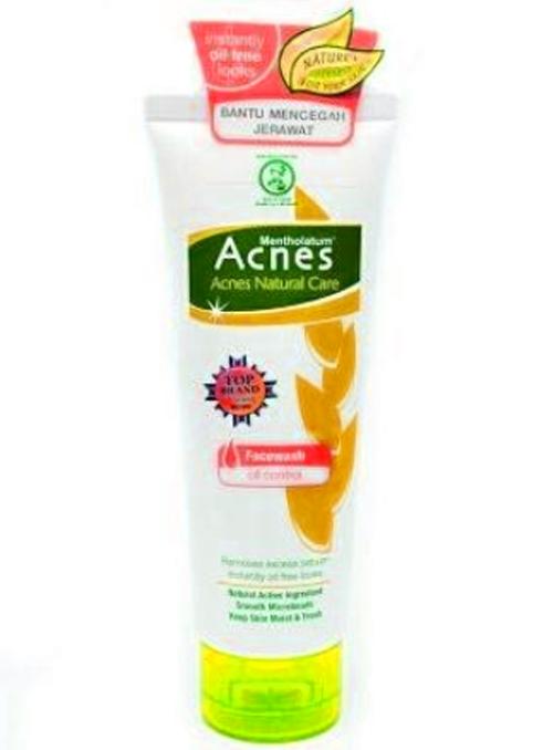 Acnes Natural facial wash untuk kulit berminyak