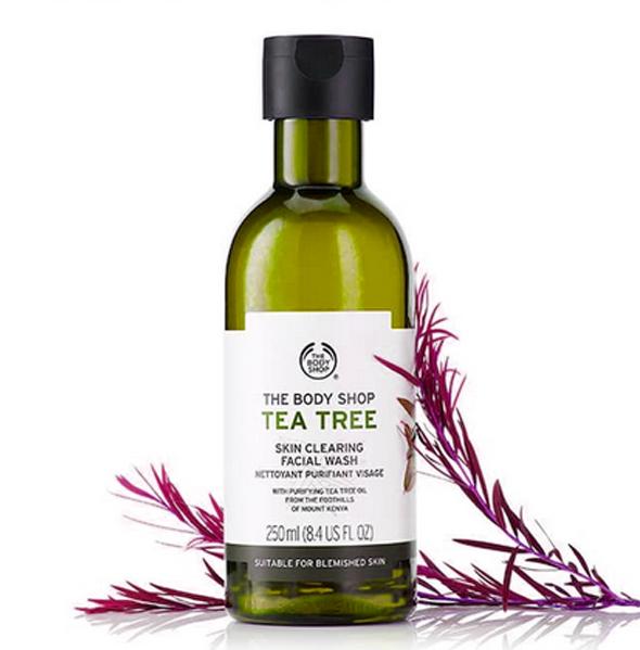 The Body Shop Tea facial wash untuk kulit berminyak