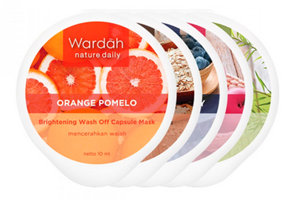Wardah Nature Daily Milky Oat Exfoliating Scrub Capsule Mask