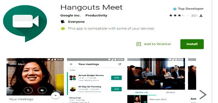Aplikasi Meeting Online Google Hangouts