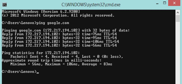 Cara Ping Google (Packet Internet Gopher) Agar Koneksi Internet Stabil