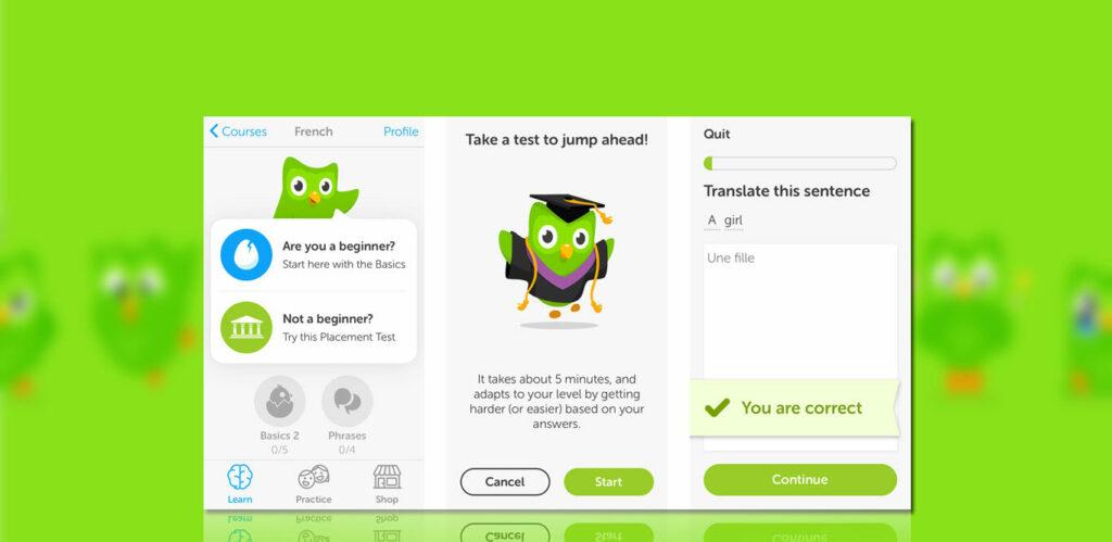 tampilan Duolingo Mod Apk