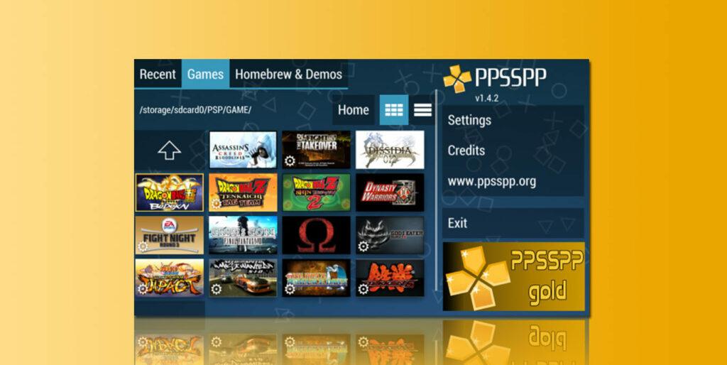 tampilan PPSSPP Gold Apk
