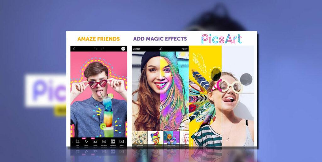 tampilan PicsArt Mod Apk
