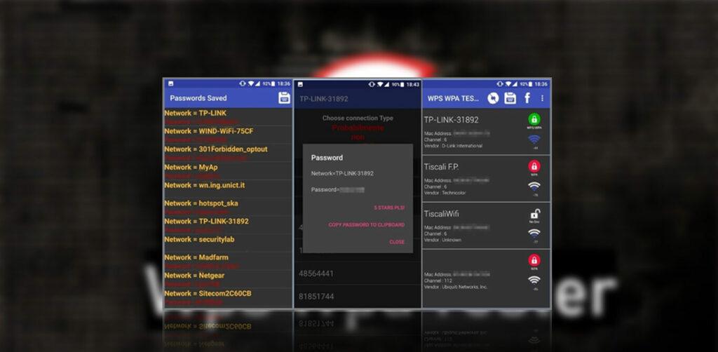 tampilan WPS WPA Tester Mod Apk