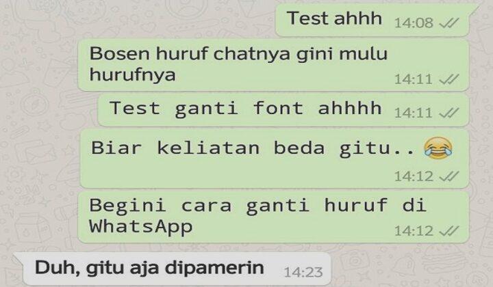 Cara Mengubah Font WhatsApp Menggunakan Aplikasi & Tanpa Aplikasi