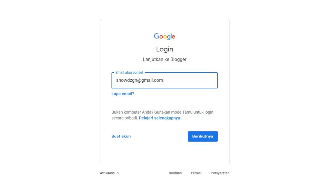 Login Email