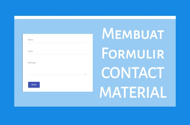 Cara Membuat Formulir Contact Material Design di Blogger