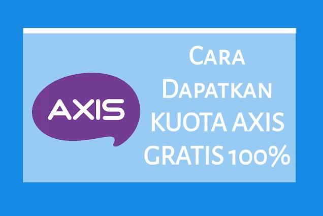 Cara Mendapat Kuota Gratis Axis