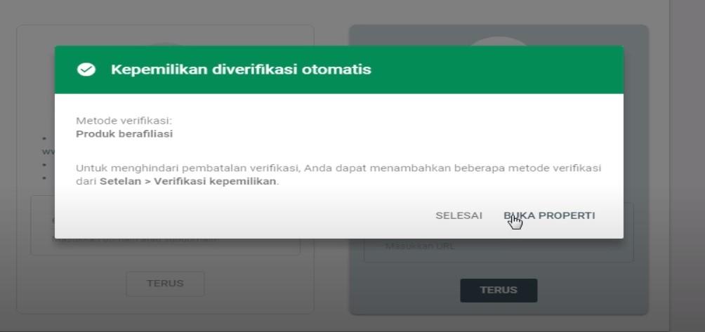 Verifikasi Webmaster Tools