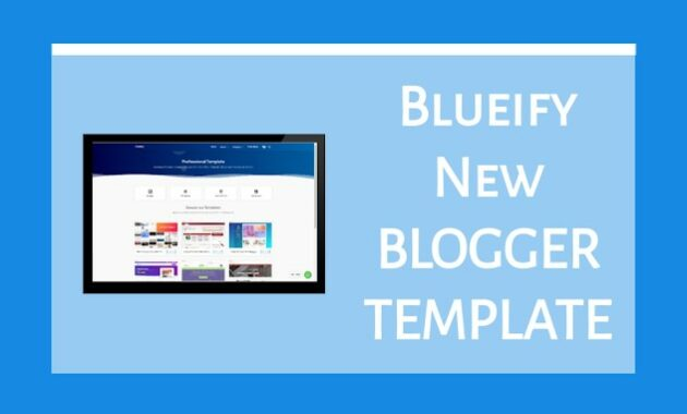 Template Blueify Pro 2 Blogger